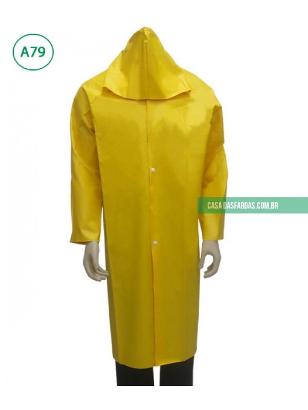 Capa de chuva em PVC