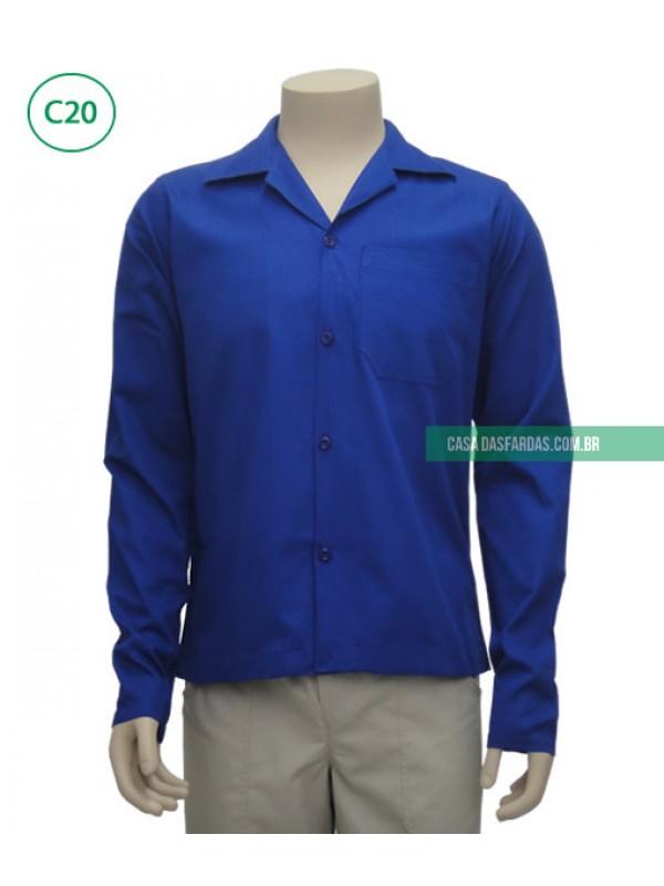 Camisa brim mg longa