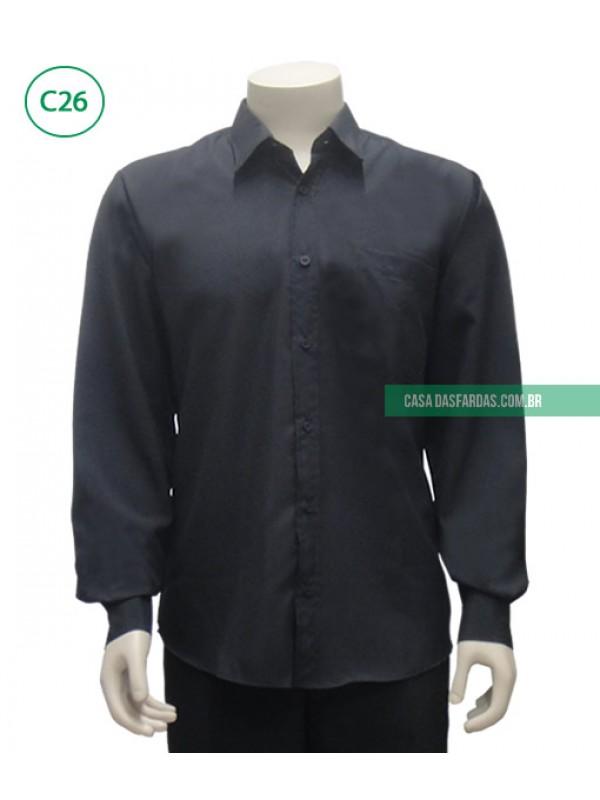 Camisa mg longa microfibra