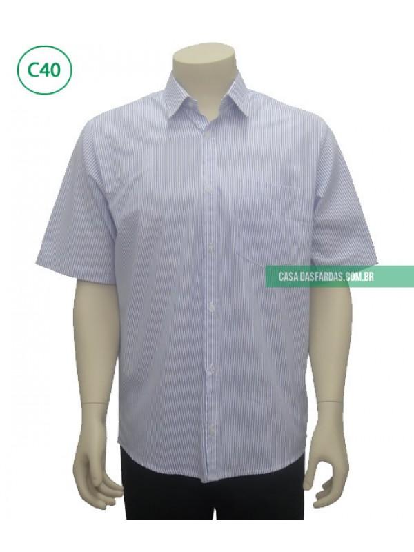 Camisa tricoline listrada