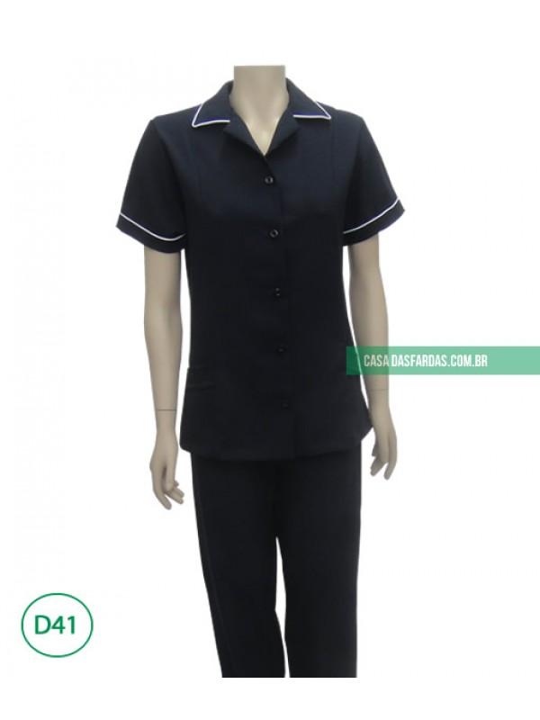 Conjunto calça/jaleco oxford no tamanho especial