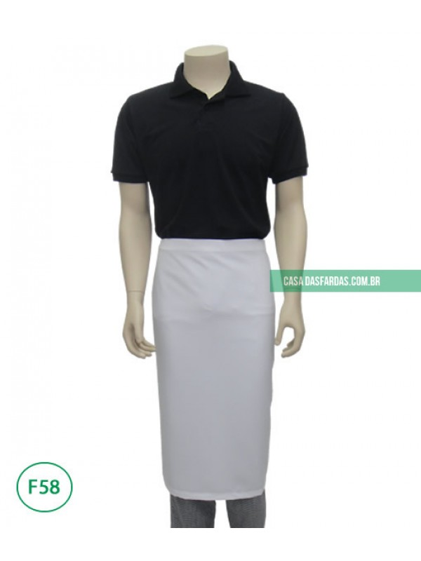 Avental sarongue oxford