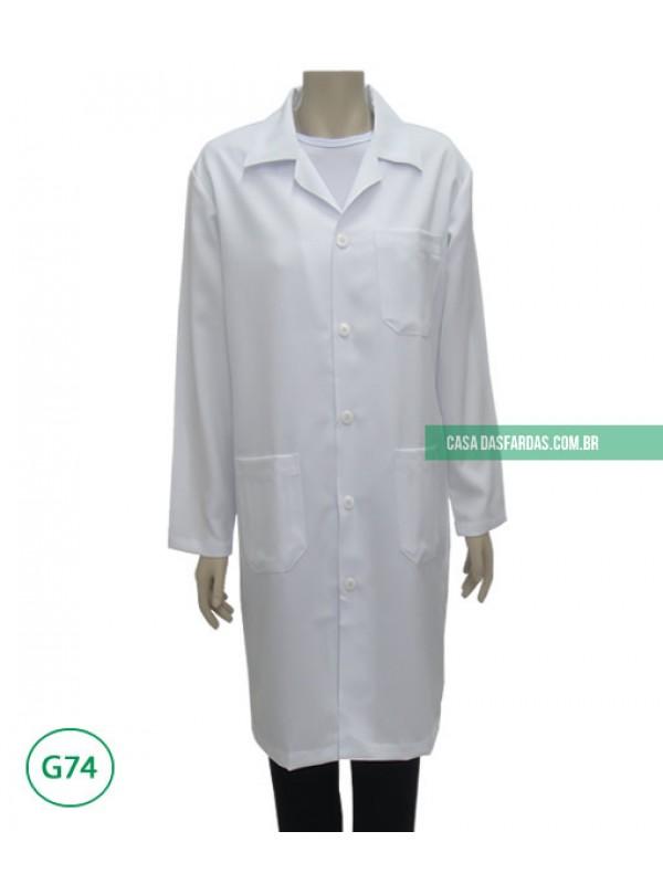 Jaleco microfibra mg longa