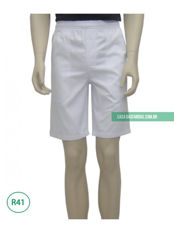 Bermudão brim branco