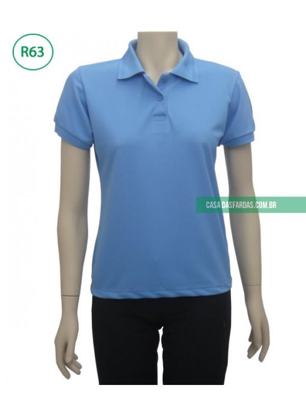 Camisa polo feminina piquet