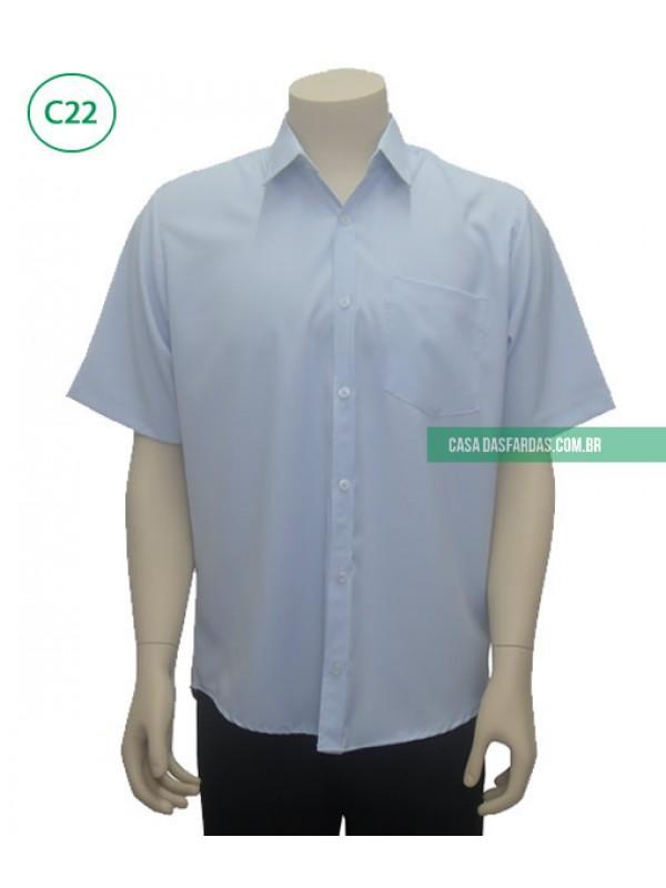 Camisa mg curta microfibra