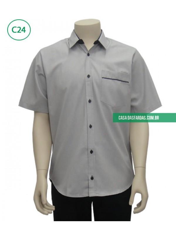 Camisa mescla com friso