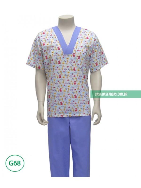 Pijama cirúrgico estampa infantil