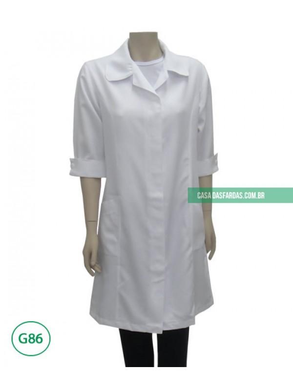 Jaleco microfibra gabardine mg 3/4