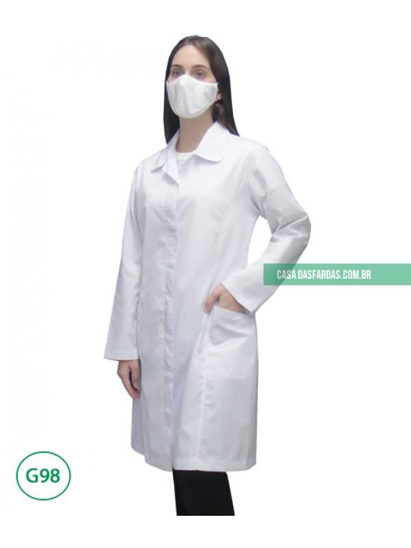Jaleco acinturado antivírus