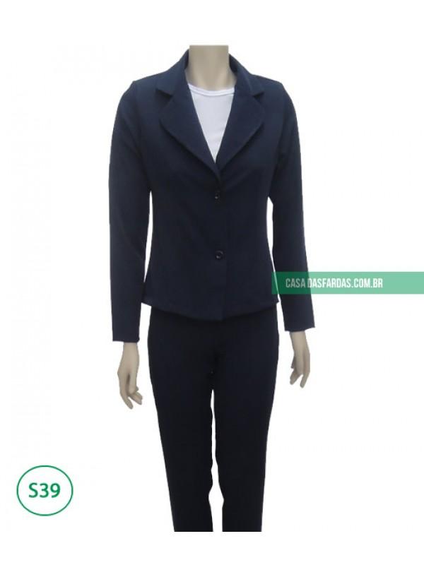 Conjunto calça e blazer mg longa